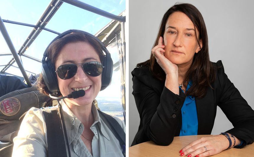 Iza Bazin works for movie sets where there are vintage planes and Agathe Giffaut is a business manager in the construction industry.