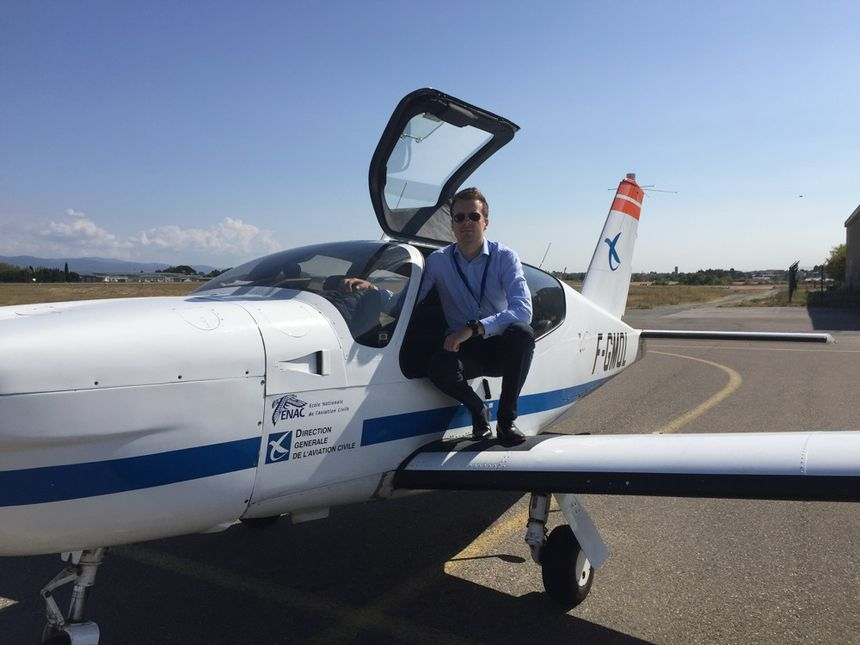 David Robert when he was in training at the National School of Civil Aviation (Enac).